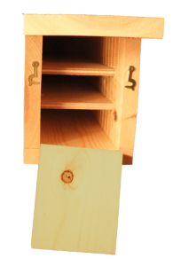 Triple Chamber Bat Box interior