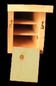 Triple Chamber Bat Box interior
