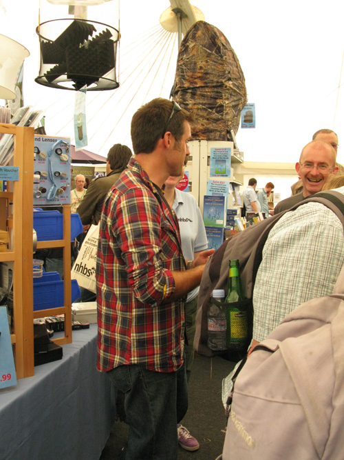 NHBS Ambassador Nick Baker meets customers on the stand