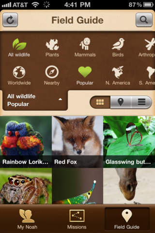 Apps for Wildlife Lovers - Project Noah