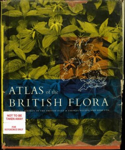 1962 Atlas of the British flora - the great-grandfather of all natural history atlases
