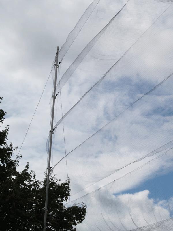 High Flier Mist Net Support System