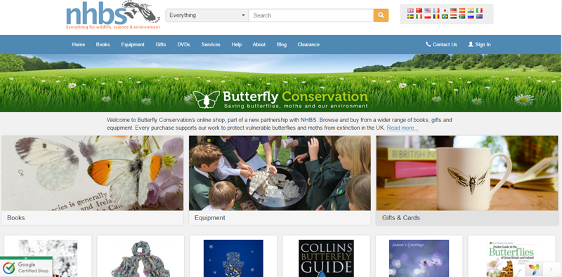 Butterfly Conservation shop at NHBS