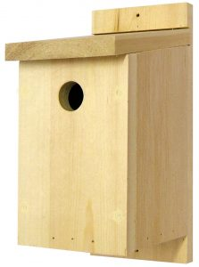 Traditional Wooden Bird Box