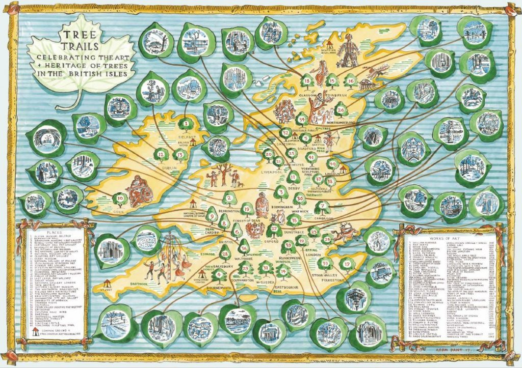 The Tree Charter Art & Heritage Trail - Illustrated by Adam Dant.