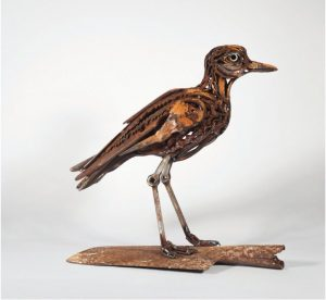 Scissor stone curlew by Harriet Mead