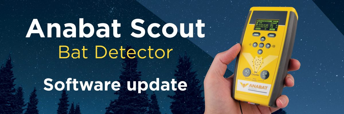 New Firmware update for the Anabat Scout Bat Detector